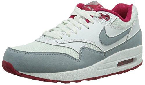Nike Wmns Air Max 1 Essential 599820-104 Damen Low-Top Sneaker Weiß (Grey Light/Crimson) 36.5