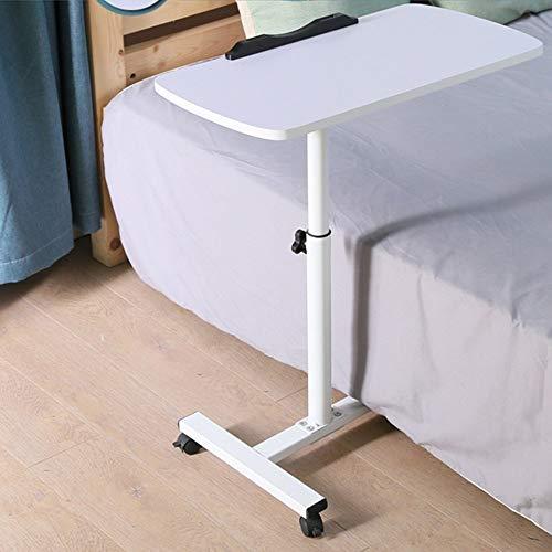 Home Beistelltische Klappbarer Laptoptisch Lazy Bed Desk Desktop Klappbarer Mobiler Nachttisch für Alle Workstations, BOSS LV, Weiß