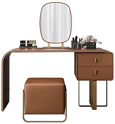 HLZY Vanity Scrivania per camera da letto Home Decor Luce di lusso Italiana Ecologico Toeletta Postmodern Net Red Makeup Table Nordic Family (Dimensioni: 80 cm)