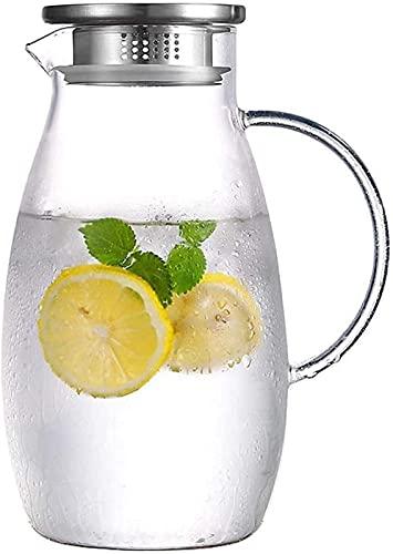 aipipl Taza Tetera Ama de casa Vaso de Gran Capacidad Botella de Agua fría 2000Ml Verano Juego Transparente Taza de Agua fría Hirviendo Resistente al Calor Resistente al Calor Taza de té a Prueba d
