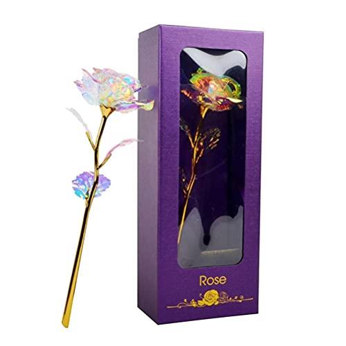 Presentes para mãe, rosa eterna com caixa de presente, flor de rosa eterna para mulheres no Dia dos Namorados, Dia das Mães