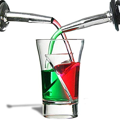 5 Glasses shooters twister double double compartment