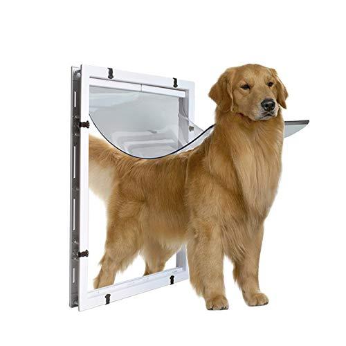 Puerta Abatible Impermeable Para Gatos Puerta de perro grande Extra grande Puerta de mascota Agujero de la puerta grande de la puerta y salida de la puerta de la puerta blanca de la puerta y la salida