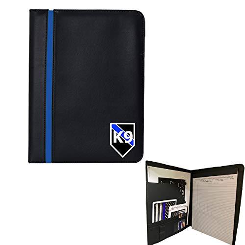 Thin Blue Line K9 Police Memo Pad Holder - Padfolio K9 Prayer Print American Flag Magnet and Decals