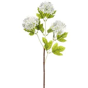 24.5″ Silk Snowball Flower Spray -White (Pack of 12)