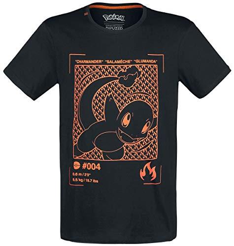 Pokemon Glumanda T-Shirt schwarz XXL