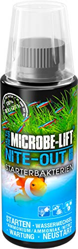 MICROBE-LIFT Nite-Out II – Bakterienstarter für Süßwasser & Meerwasser Aquarium, für schnellen Fischbesatz, 118 ml
