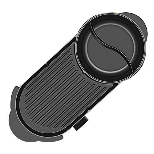 Ljings Haushalts-Multifunktions-Antihaft-Elektroherd Mit Großer Kapazität, Cool Touch-Edelstahlgriff, Kontrollleuchte Und Rutschfesten Füßen, 1500 W,1set