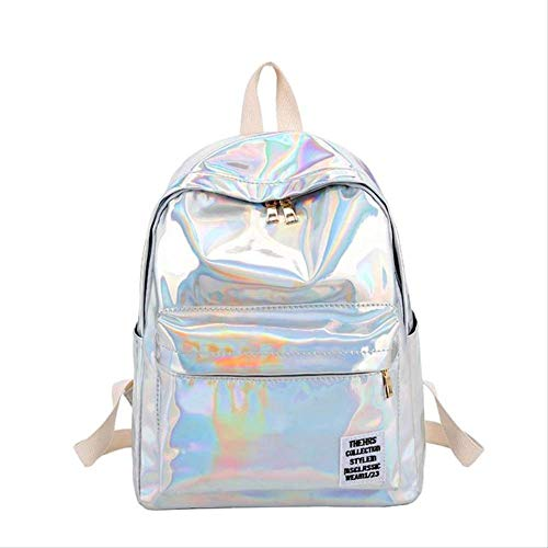 School Bag Backpack Women Soft Laser Leather Travel Packbags