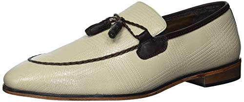 Stacy Adams Bianchi Tassel Slip-On Loafer, Mocasín para Hombre, Gris Topo, 42.5 EU