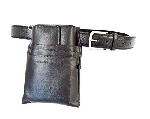 CELRIC Kellnerbörsenset 3 teiliges Kellner-Bedienungsset Halfter Colt + Kellnerbörse + Kellnergürtel Gastrobekleidung (Set mit 110 cm Gürtel)