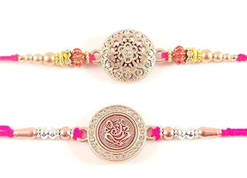 Sarvam Juego de 2 pulseras Rakhi Raksha Bandhan de regalo para tu festival indio Raksha, Raksha Bandhan