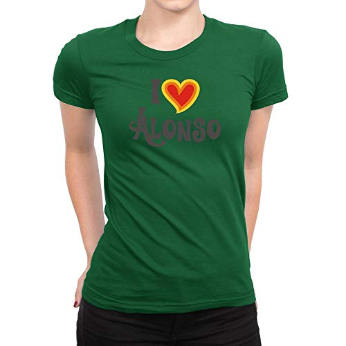 I Love Alonso señora T-Shirt verde xx-large