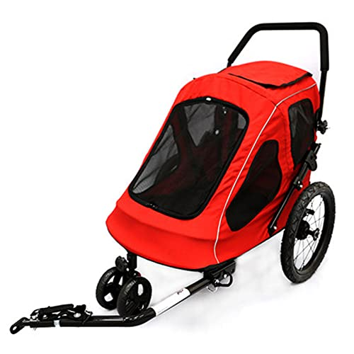 HXXXIN Pet Stroller, Bicycle Trailer, Large Dogs, Walk The Dog Cart, Go Out, Portable Trolley, Dog Iron Frame, Can Be Used As A Bicycle Trailer Universal Wheel