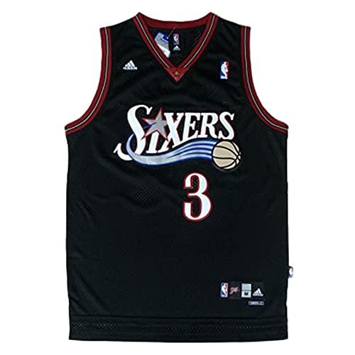 KKSY Maillot Philadelphia 76ers 3# Maillots Allen Iverson Maillot de Basket Respirant,A,S