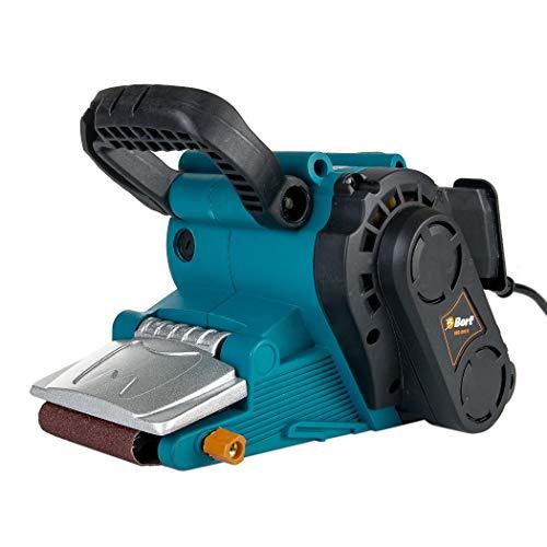 Bort BBS-801N Bandschleifer, 800 Watt, Schleifband 76X457mm, Drehzahlregelung, 120-260upm, inkl. 2x Schleifband , Staubfänger