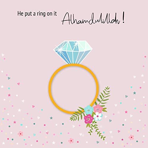 Hochzeitskarte für islamische Verlobung, Aufschrift