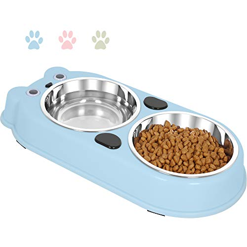 Cute Cat Bowls Food and Water