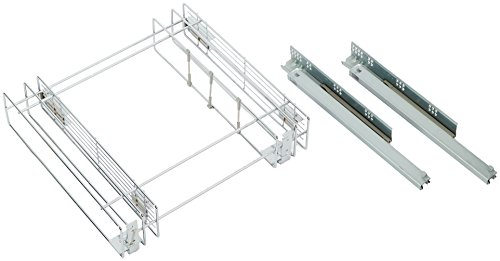 Emuca 8354011 Ausziehbarer Flaschenhalter mit Softclosing für Küchenmöbel 150mm in Stahl verchromt