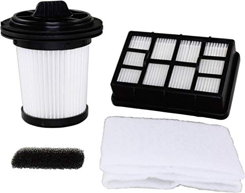 Dirt Devil 2690052017 4-teiliges Filterset bestehend aus Hygiene-Ausblasfilter, Lamellen-Zentralfilter, Motorschutzfilter und 2 Filtervliese