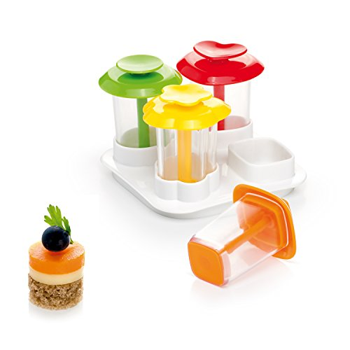Tescoma 'Presto Foodstyle' 4 Shapes Canape Makers, Assorted