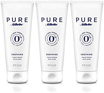 3-Pack PURE by Gillette Shaving Cream for Men, 6 Ounce