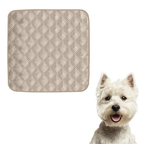 KunLS Empapadores Lavables Cuadrado Empapadores Perros Lavables Alfombras para Perros CojíN para Sofá para Mascotas Se Utiliza para El Entrenamiento De Perros Y Gatos Beige