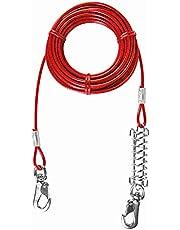 Trixie Cable plastificado con Muelle, 8 m, Rojo