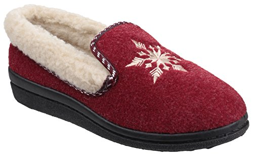 Mirak , Chaussons pour Femme - Rouge - Red,