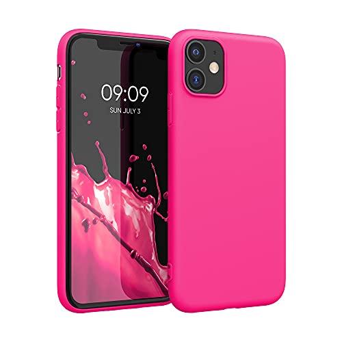 kwmobile Hülle kompatibel mit Apple iPhone 11 - Hülle Handyhülle - Handy Hülle in Neon Pink