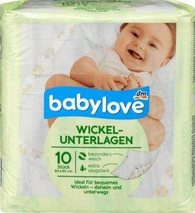 1 x babylove Wickelunterlagen, 1 x 10 St