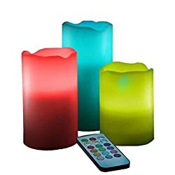 Remote controlled LED light candles