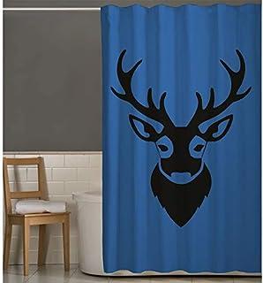 Right Canvas Blue/Black 180cm x 200cm Shower Curtain - RG138NPIC00027