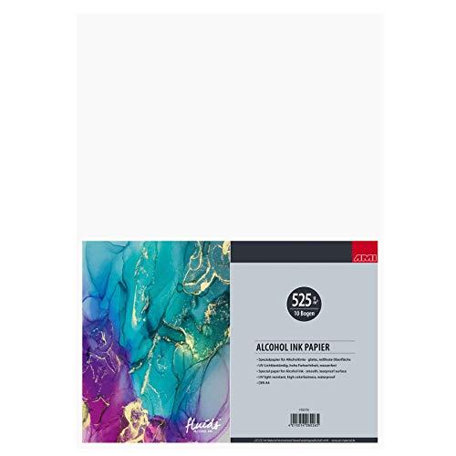 ARTSERVICE-TUBE Bloc de tinta de alcohol, papel de tinta de alcohol, 525 g/m² (DIN A4)