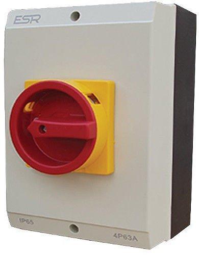 ESR E634P interruptor eléctrico grande aislador rotatorio 4 poste 63A IP65 recinto...
