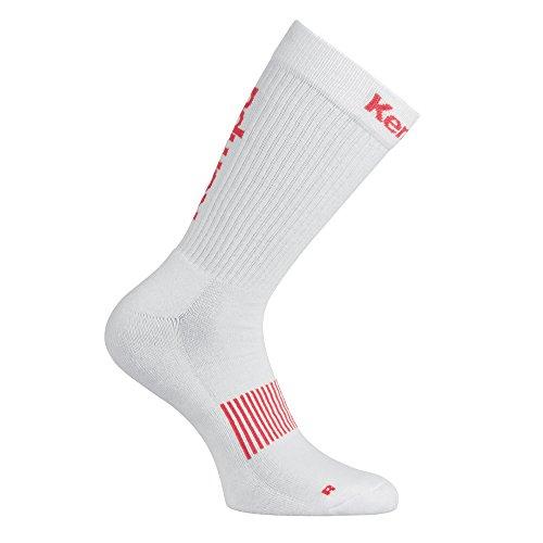 Kempa Logo Classic Herren Socken, weiß/Rot, 41-45 (L)