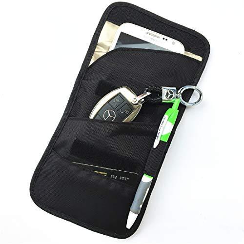 Anabei Bolsa colgante de cuello, bolsa de pasaporte, multifunción anti-escaneo de señal de teléfono móvil a prueba de radiación bolsa de blindaje