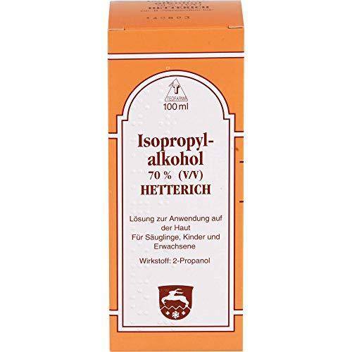 Isopropylalkohol 70{d07b83274493955ceb1d3bf3c4007ac05e60e344ca8e57754f0edec2e79bdb77} Hetterich Desinfektionslösung, 100 ml Lösung