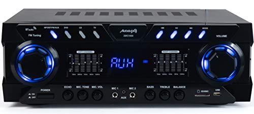 Audibax Zero 1000 Amplificador Bluetooth 80 + 80W con Entrada de 2 Micros USB y SD