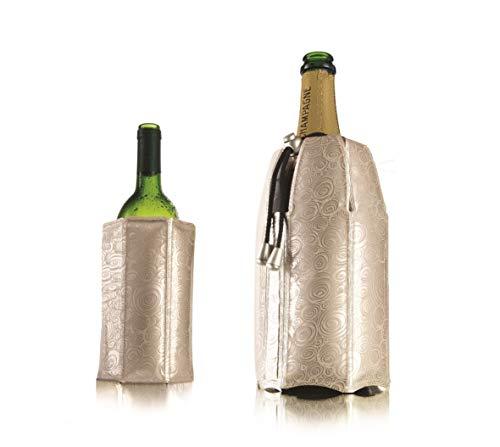 Vacu Vin Set di Refrigeratore per Vino e Champagne Attivo - Platino