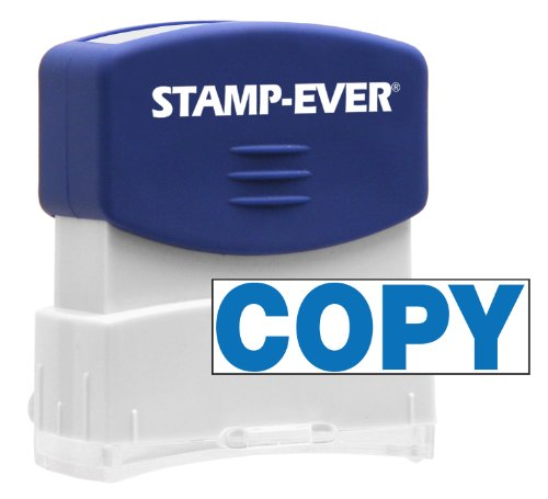 Stamp-Ever Pre-Inked Message Stamp, Copy, Stamp Impression Size: 9/16 x 1-11/16 Inches, Blue (5945) Photo #3