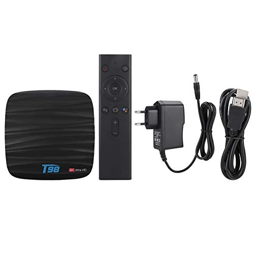 Rosvola Caja de Red, decodificador de Smart TV Set-Top Box TV, para Android 8.1(European Standard 110-240V)