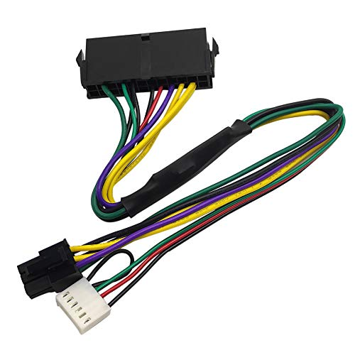 COMeap 24 Pin to 6 Pin ATX Power Adapter Cable for HP Z220 Z230 SFF MT TWR Series 4000 6005 8300 ProDesk 600 G1 EliteDesk 800 G1 13-inch(33cm)