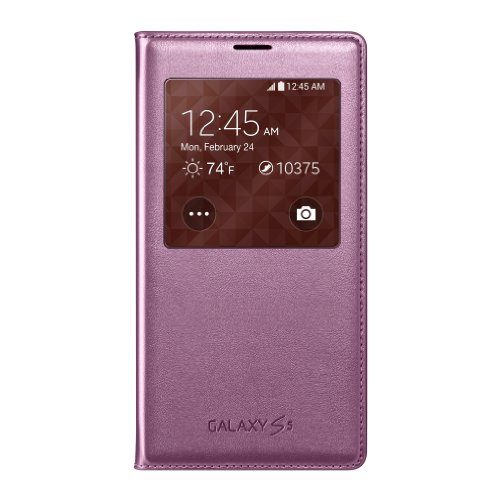 cases for samsung galaxy s5s Samsung Galaxy S5 Case S View Flip Cover Folio, Pink