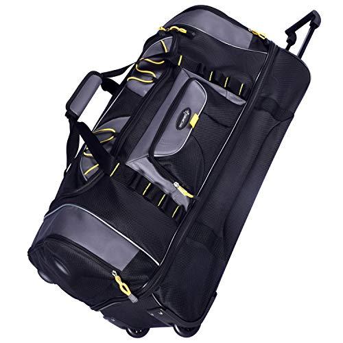 TPRC Sierra Madre II Upright Rolling Duffel Bag, Black/Gray, 36-Inch