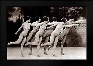 Six Nude Dancers Framed Art Print by Vintage Nudes