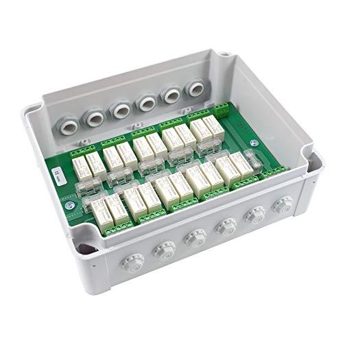 3T-MOTORS Motorgruppensteuergerät für 10 Motoren MSG10/AP, Rolladenmotor/Markisenmotor Einzel- und Zentralbedienung, Zentralsteuerung, Trennrelais, im AP-Kunststoffgehäuse