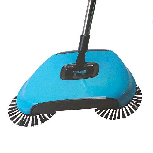 Deluxa 3in1 Bodenkehrer   360° drehbar   schnelle Entleerung   einfache Reinigung ohne Strom (blau)