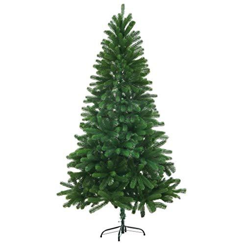 LDM Inyección de Agujas realistas de árbol de Navidad de imitación 150cm Decoración de Navidad Verde