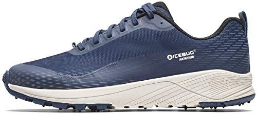 Icebug Mens NewRun BUGrip Road Running Shoe with Carbide Studded Traction Sole, Nightsky, 10